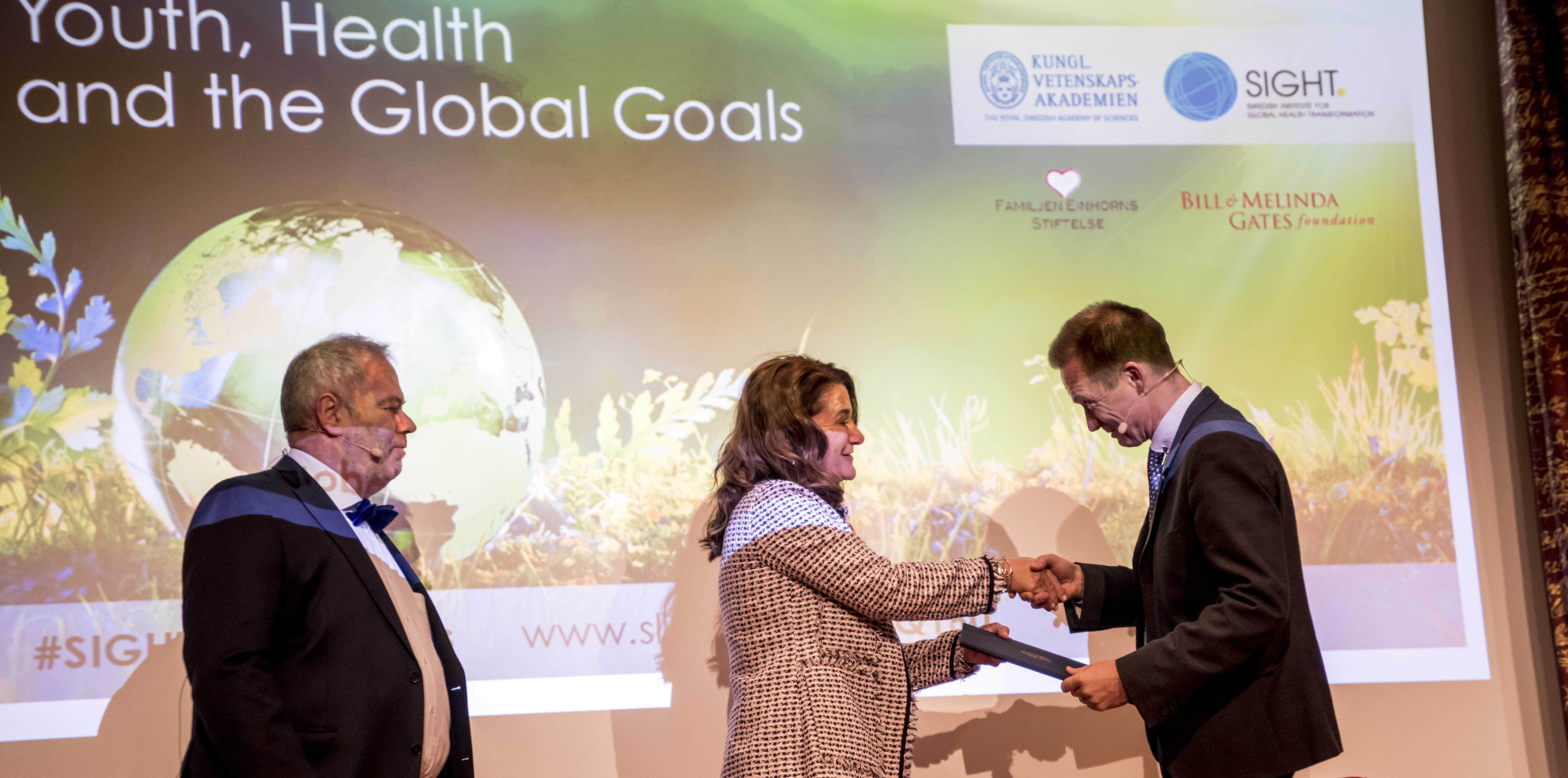 stefan-einhorn-melinda-gates-andreas-mårtensson-receives-sight-award