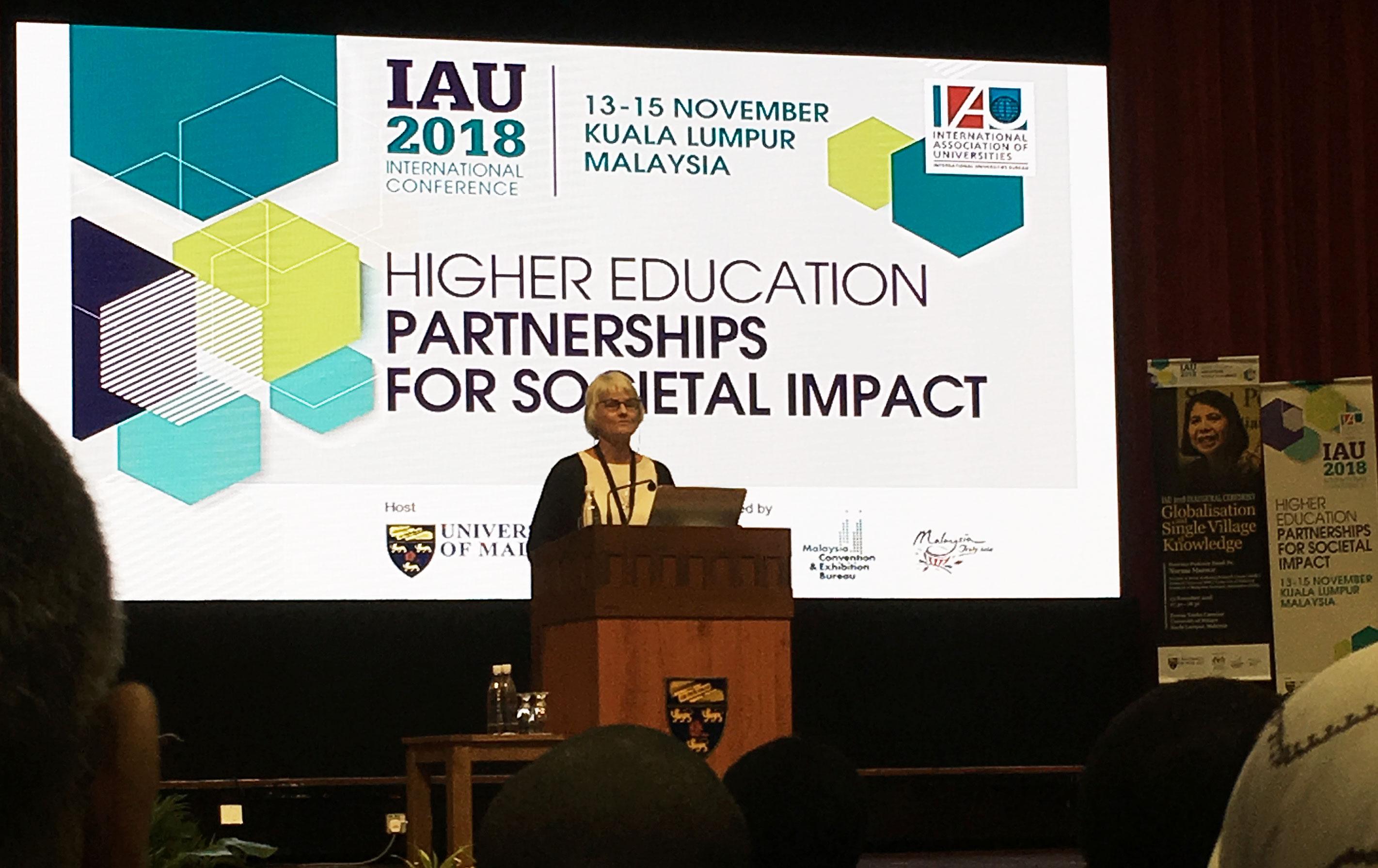 Pam Fredman, IAU, Kuala Lumpur.
