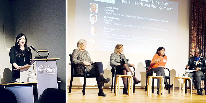 Women in panel discussion at WGH Sweden launch